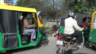 Stock Video Footage of Delhi bicycle rickshaw ride s