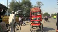 Stock Video Footage of Delhi bicycle rickshaw ride