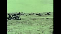 US Artillery 155mm Howitzer firing 01 Stock Footage