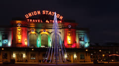 Union Station in Denver - stock footage