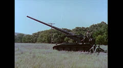 US-Artillery-tank175mmGun-Firing01 Stock Footage