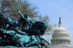 civil war memorial, washington dc - stock photo