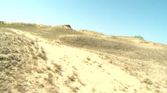 Dunes in sandy desert Stock Footage