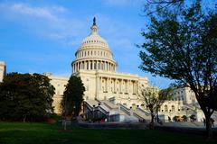 united states capitol, washington dc - stock photo