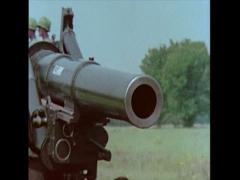 """US Artillery 8"""" Howitzer driving 01 Stock Footage"""