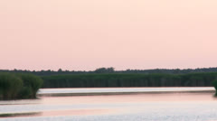 Backwater after sunset Stock Footage