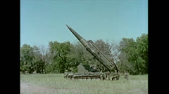 US Artillery Guided Missile Pershing Aiming 01 Stock Footage