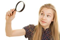 Stock Photo of magnifying glass