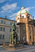 statue of charles iv - stock photo