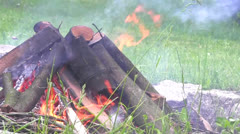 Bonfire closeup - stock footage