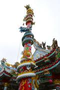 dragon pole in thailand - stock photo