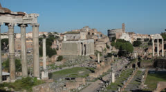 Roman Forums Stock Footage