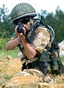 British girl soldier Stock Photos