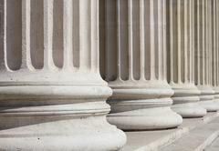neoclassical columns closeup - stock photo