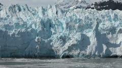 Ice tower calves off Margerie Glacier Glacier Bay Alaska HD 1406 Stock Footage
