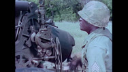 Stock Video Footage of US Artillery 155mm Howitzer aiming 01