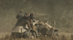 Stock Video Footage of German Armored car ww2