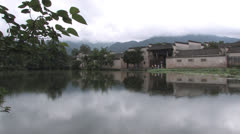 Chinese ancient town, Huangshan Stock Footage