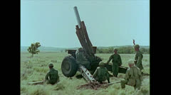 US Artillery 155mm Howitzer firing 02 Stock Footage