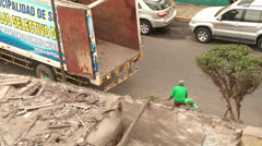 Working With Green Waste, Lima, Peru Stock Footage