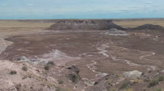 Stock Video Footage of Arizona Petrified Forest view