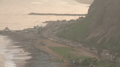 Beach and Coastline, Lima, Peru - stock footage