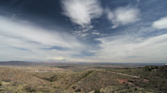 Clouds above a view from Jerome Arizona Stock Footage