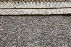 thatched roof background - stock photo