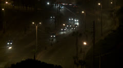Traffic in Lima (Peru) at night Stock Footage