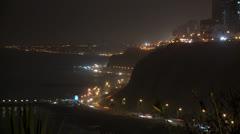 Lima Timelapse, Traffic, Peru Stock Footage