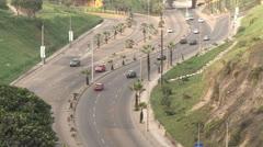 Lima, Peru, Traffic at day Stock Footage