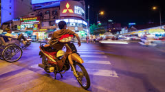 PANNING - MOTO TAXI IN VIETNAM - TIMELAPSE Stock Footage