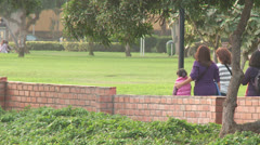 People in Park, South America Stock Footage