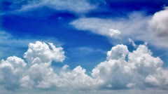 Timelapse clouds - stock footage