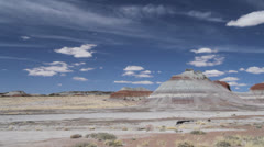 Arizona The Tepees in Petrified Forest National Park Stock Footage