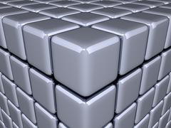 3D Cubes - Optical Illusion Stock Illustration