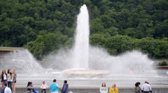The Point Fountain in Pittsburgh Stock Footage