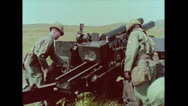 Stock Video Footage of US Artillery 105mm Howitzer Setup 02