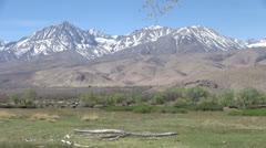 California Sierra Nevada Mountains Stock Footage
