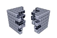 Stock Illustration of 3D Cubes - Separation