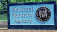 Stock Video Footage of NSA (National Security Agency) sign jib shot Fort Meade (Ft. Meade)