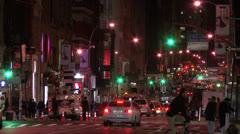 Soho New York City at Night Stock Footage