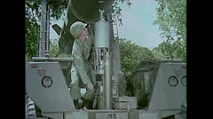 US Artillery Guided Missile Sergeant Aiming 01 Stock Footage
