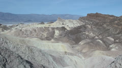 California Death Valley Badlands Stock Footage