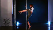 Stock Video Footage of Pole dance woman.