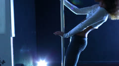Pole dance woman. Stock Footage