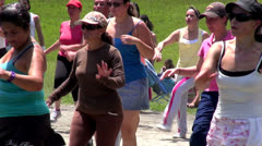 Exercise Fitness, Aerobics, Healthy Lifestyle Stock Footage