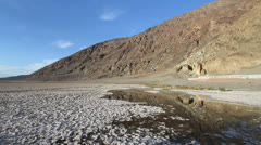 Death Valley at Badwater Stock Footage