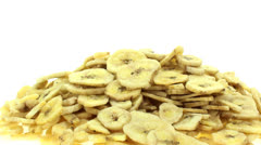 Banana chips zoom in 2 Stock Footage