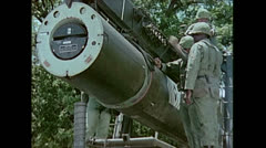 US Artillery Guided Missile Sergeant Setup 03 Stock Footage